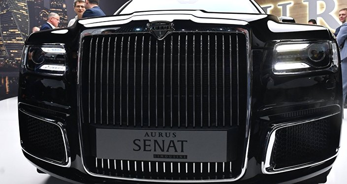 Aurus at the Geneva Motor Show.
