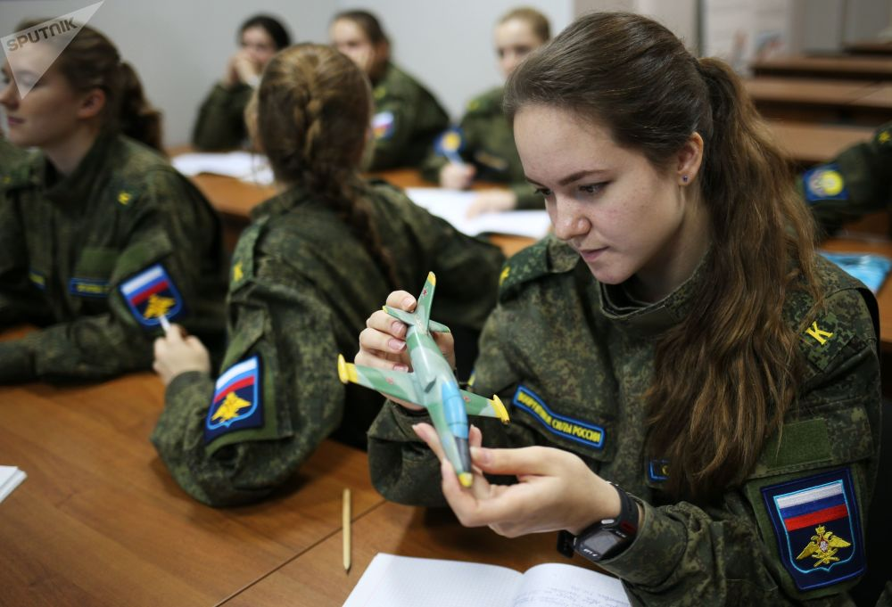 Cadets During Class at Krasnodar Aviation High Military School