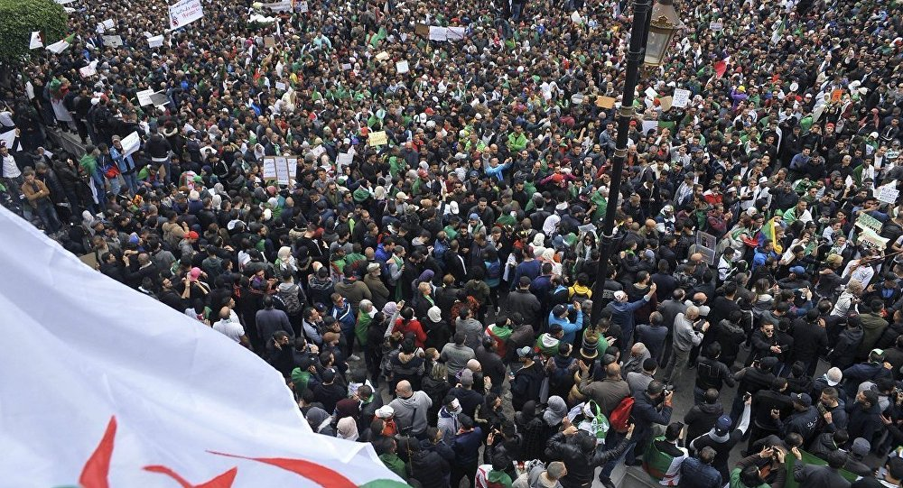 Protests in Algeria against president's re-election bid