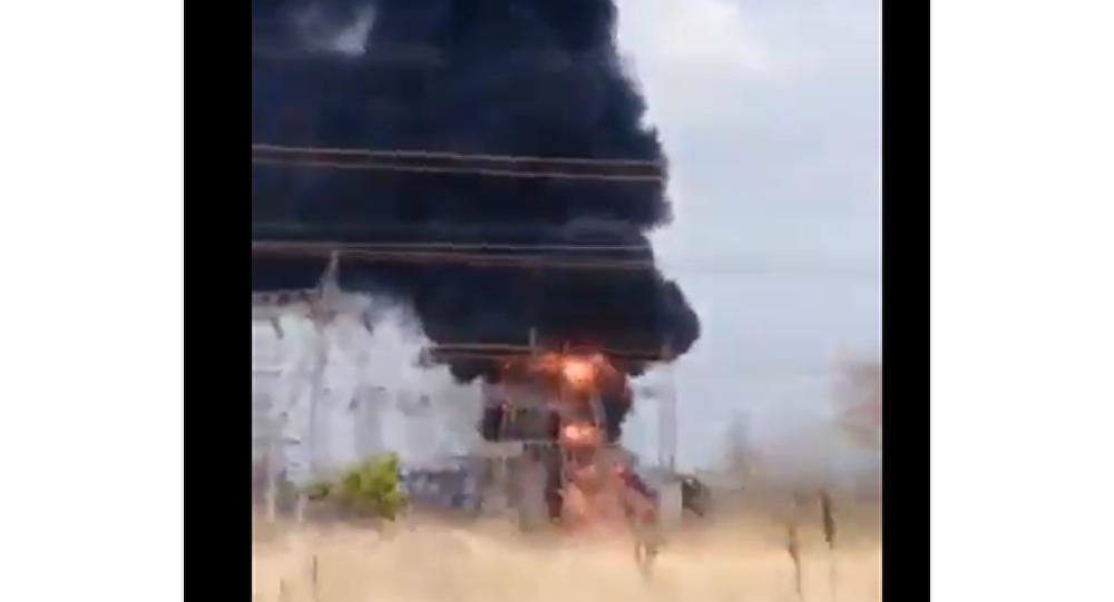 Huge Fire Engulfs Sidor Transforming Substation in Venezuela