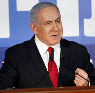Israeli Prime Minister Benjamin Netanyahu delivers a statement to the media