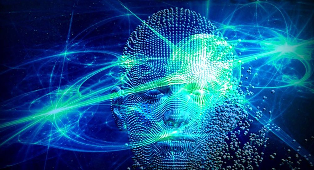 Artist depiction close-up of quantum physics-based consciousness (Creative Commons - Azmat Ullah)