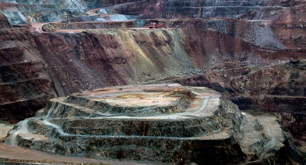 View of Canadian Goldcorp gold mine at the Los Filos complex in Carrizalillo, Guerrero State, Mexico