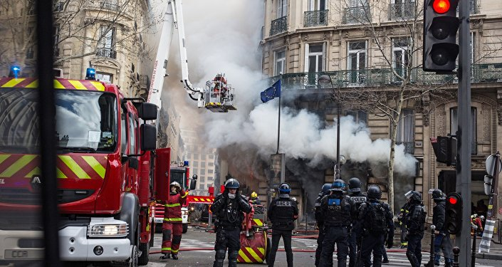 Yellow Vests protest in Paris on 16 March.
