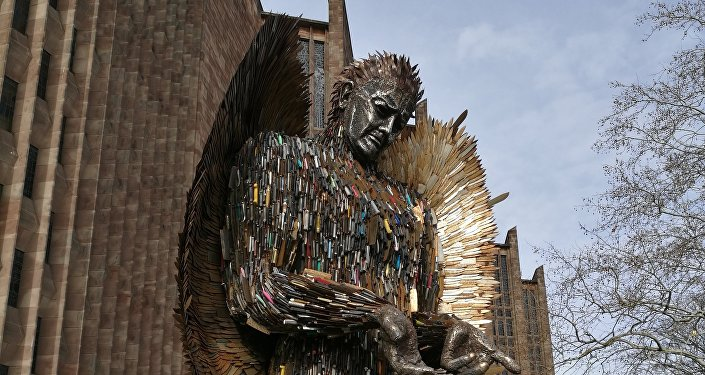 The Knife Angel is a sculpture aiming to highlight the devastating effects of knife crime across Britain.