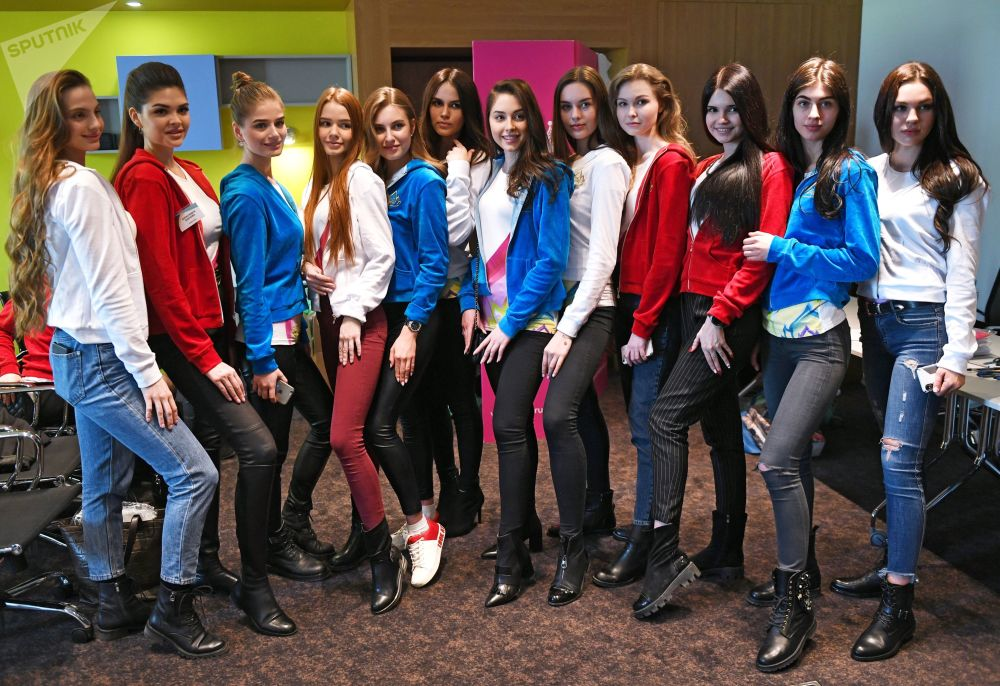 'Miss Russia' Contestants in Moscow