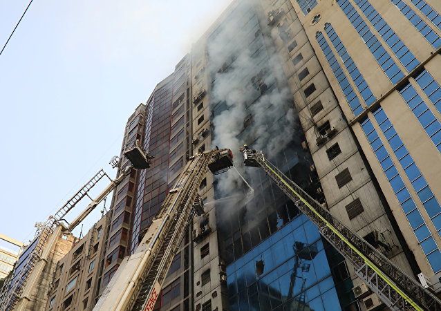 Fire at a Multi-Storey Commercial Building in Dhaka