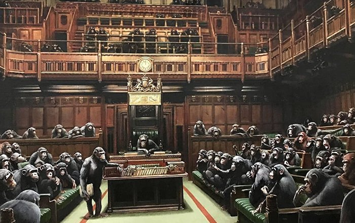 Laugh Now: BANKSY Publishes Artwork With UK House of Commons MPs ...