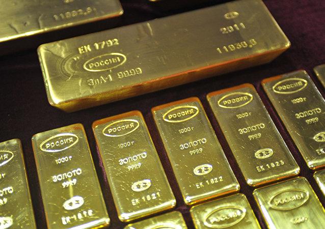 Russian gold bars.