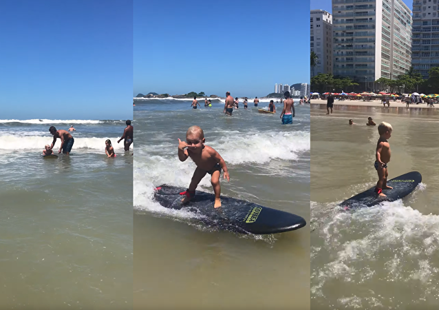 Tubular Toddler Successfully Takes on Second Wave of His Life
