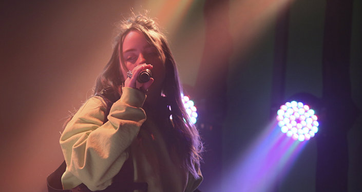 Billie Eilish performs at the Uber Eats House during the South by Southwest Music Festival on Saturday, March 16, 2019, in Austin, Texas.