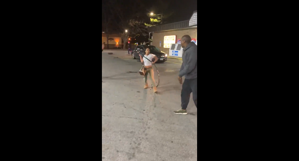 Brawl breaks out at a gas station in Akron, Ohio, after remarks regarding hot dogs are made.