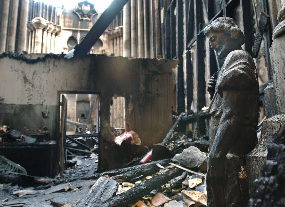 Aftermath of Fire at the Cathedral Church of St. John the Divine