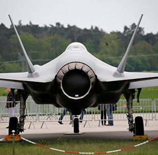 A Lockheed Martin F-35 aircraft at the ILA Air Show in Berlin, Germany, April 25, 2018