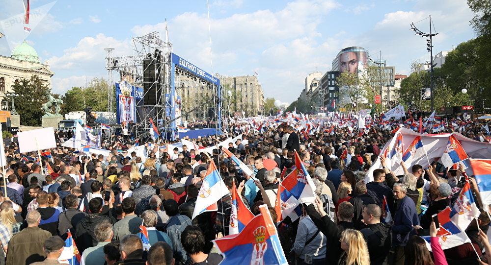 Future of Serbia rally in Belgrade