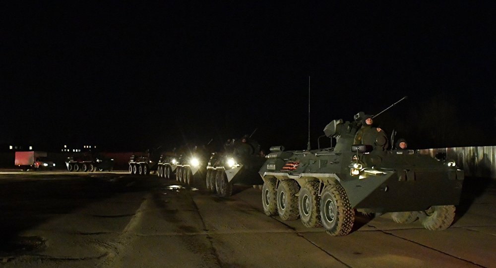 WATCH Countless Russian Military Vehicles Arrive in Moscow