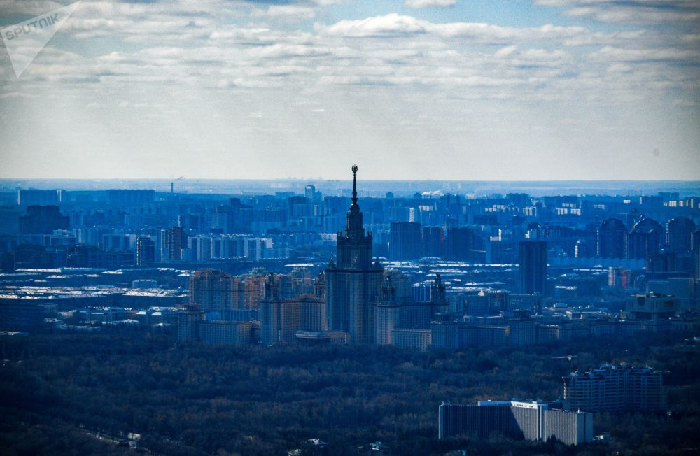 A View from an Observation Deck in Moscow City PANORAMA360