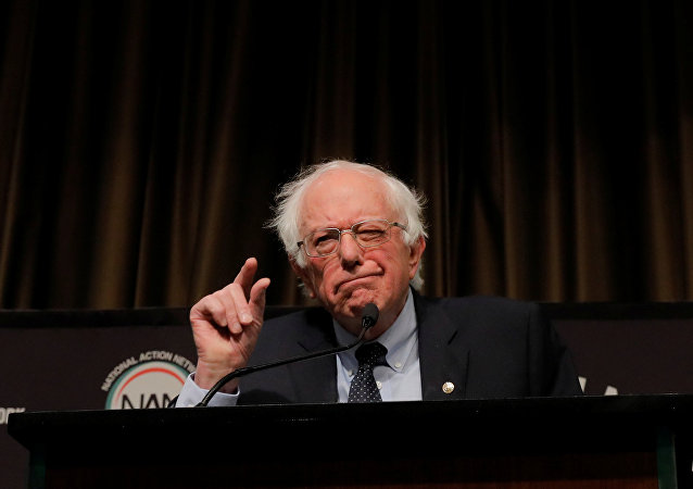 U.S. 2020 Democratic presidential candidate and U.S. Senator Bernie Sanders (I-VT), speaks at the 2019 National Action Network National Convention in New York, U.S., April 5, 2019