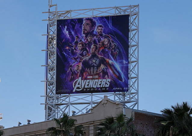Avengers fans wait in line at the TCL Chinese Theatre in Hollywood to attend the opening screening of Avengers: Endgame in Los Angeles, California, U.S., April 25, 2019