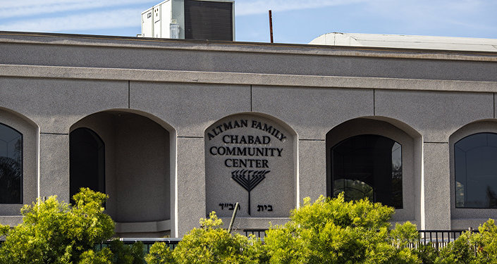 The exterior of the Congregation Chabad synagogue is seen on April 27, 2019 in Poway, California.