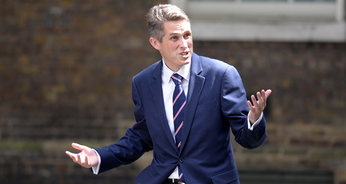 Gavin Williamson arrives at 10 Downing Street in central London on July 14, 2016