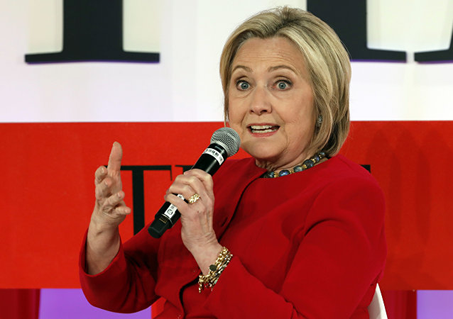 Hillary Clinton speaks during the TIME 100 Summit, in New York, Tuesday, April 23, 2019