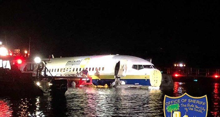 A commercial plane went into the river near Jacksonville, Florida