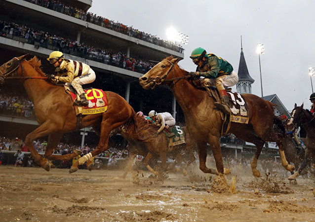 Flavien Prat rides Country House to victory during the 145th running of the Kentucky Derby horse race at Churchill Downs Saturday, May 4, 2019, in Louisville, Ky. Luis Saez on Maximum Security finished first but was disqualified