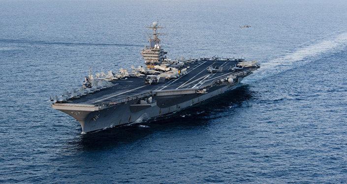 This January 19, 2012 image provided by the US Navy, shows the Nimitz-class aircraft carrier USS Abraham Lincoln (CVN 72) transiting the Arabian Sea.
