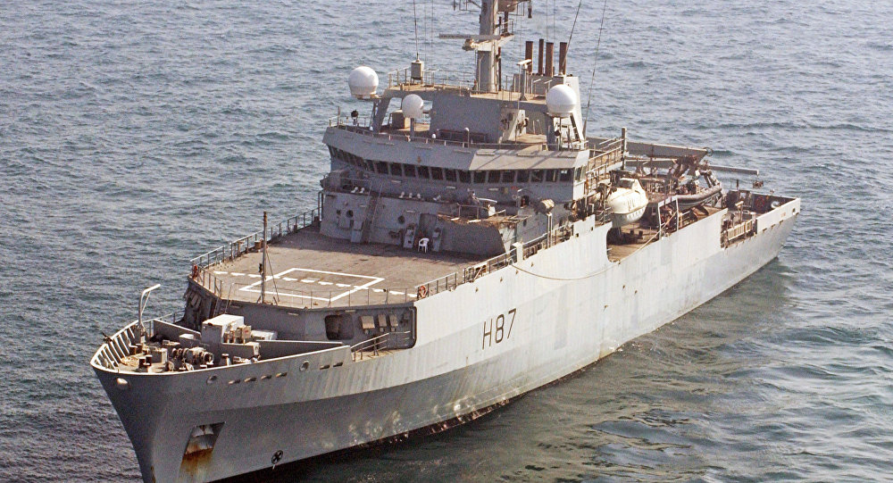 Royal Navy survey vessel HMS Echo