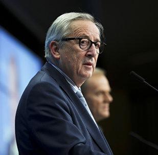 European Commission President Jean-Claude Juncker, left, and European Council President Donald Tusk