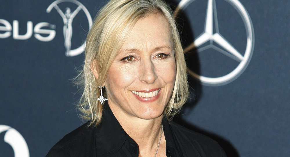 Former tennis player Martina Navratilova, arrives for the Laureus World Sports Awards in London on Feb. 6, 2012