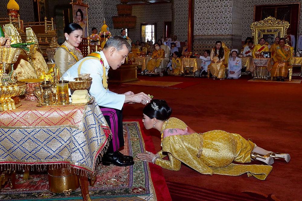 Thailand's King Maha Vajiralongkorn and his Daughter Princess Sirivannavari Nariratana
