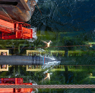 Nord Stream 2 pipeline being laid.