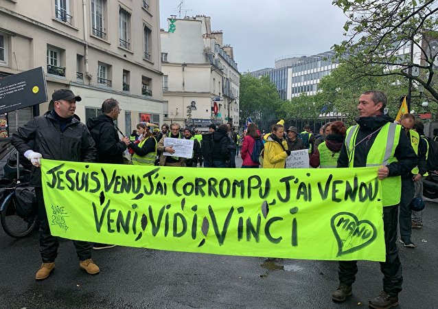 Yellow Vests protest in Paris. 11 May