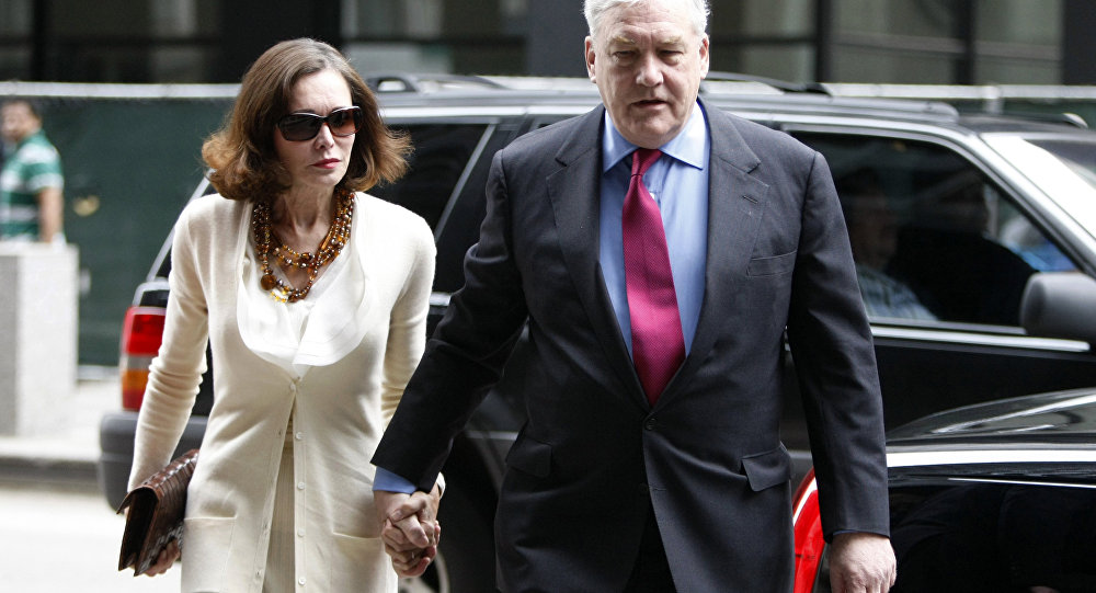 Conrad Black arrives at Federal Courthouse with his wife Barbara Amiel, Friday, June 24, 2011 in Chicago. Black, 66, once one of the world's most powerful media moguls