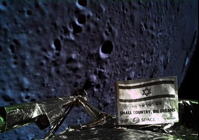 A handout picture released by SpaceIL and Israel Aerospace Industries (IAI) on April 11, 2019, shows a picture taken by the camera of the Israel Beresheet spacecraft, of the moons surface as the craft approaches and before it crashed during the landing. Israel's attempt at a moon landing failed at the last minute Thursday when the craft suffered an engine failure as it prepared to land and apparently crashed into the lunar surface.