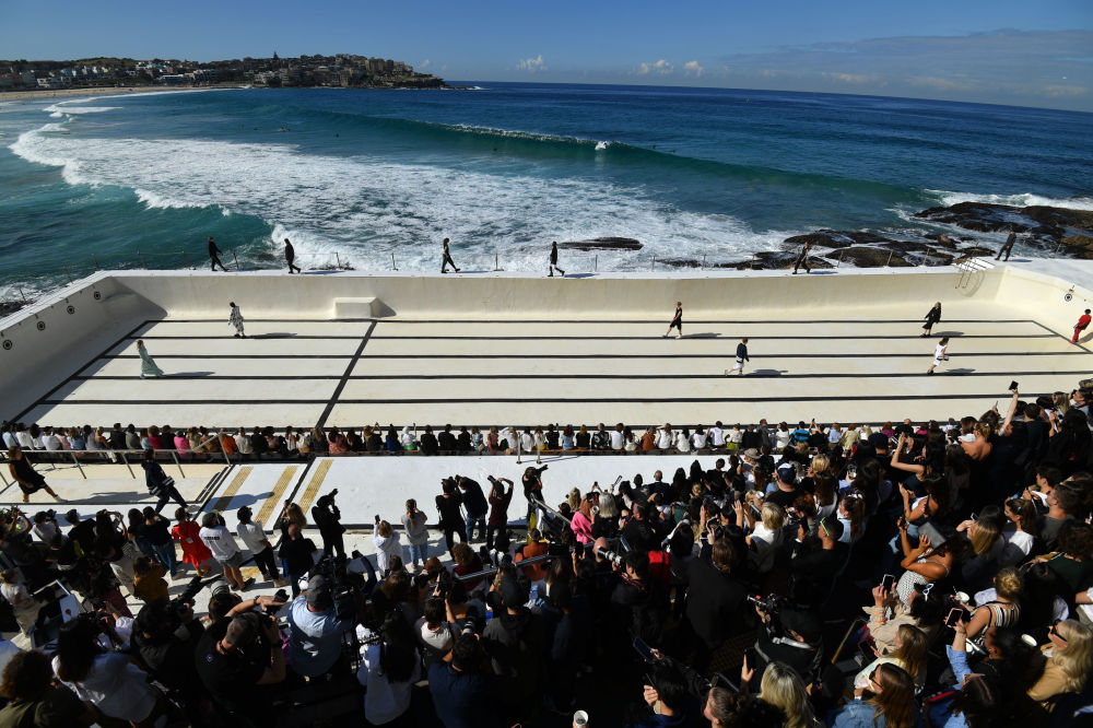 Models Presents Creations at the Ten Pieces Show at Bondi Icebergs
