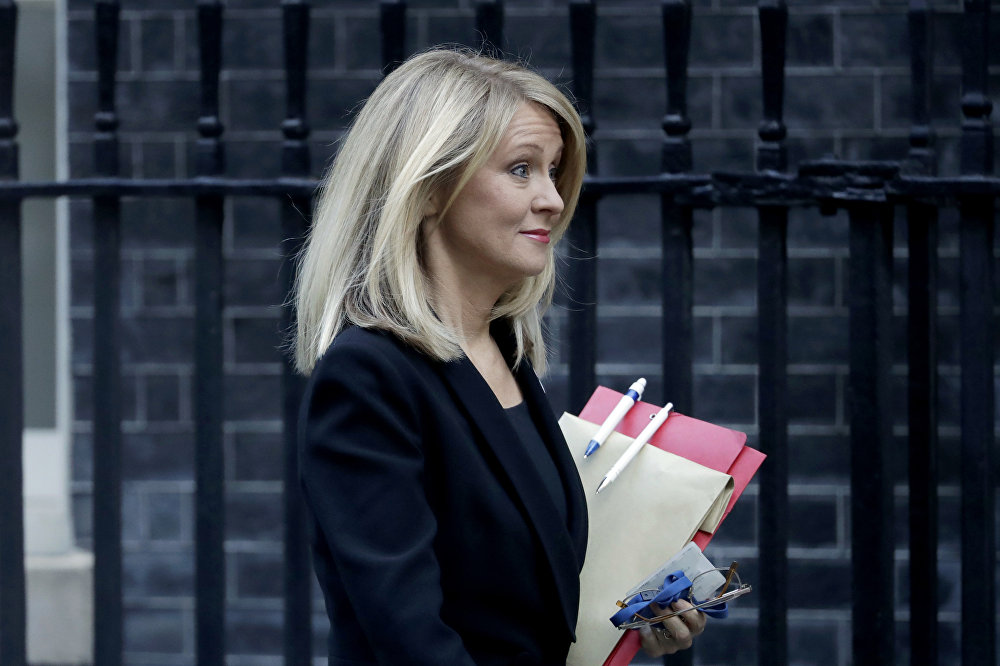 Britain's Secretary of State for Work and Pensions Esther McVey