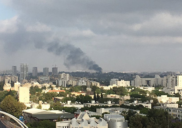 Fire at a military base in Tel Aviv