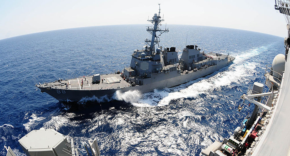 China opposes USA warship's sailing near China's Huangyan Island