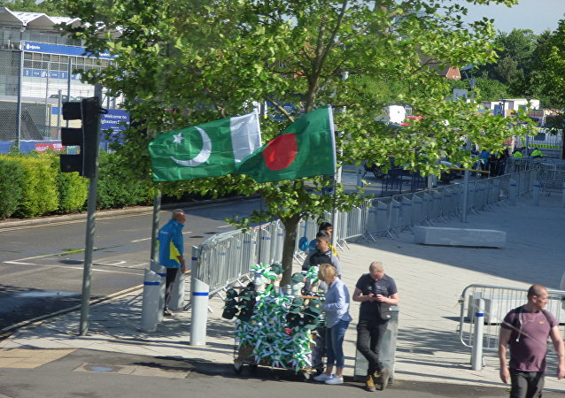 Pakistan and Bangladesh flags and merchandise