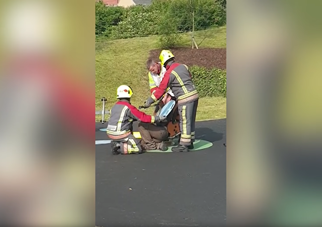 Firefighters Pry UK Father Out of Playground Rocker