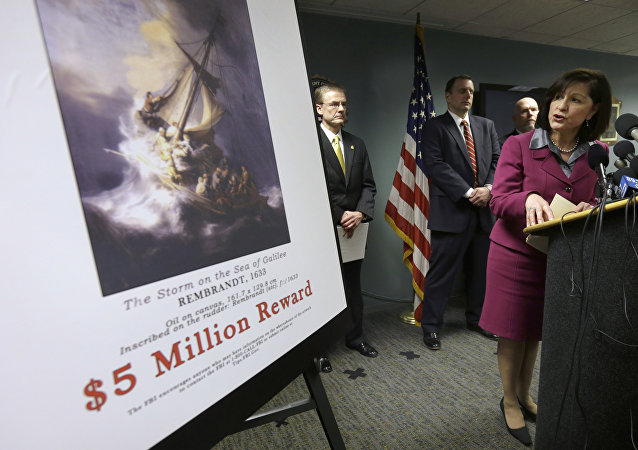 US District Attorney Carmen Ortiz at a press conference in 2010 when a $5 million reward was offered