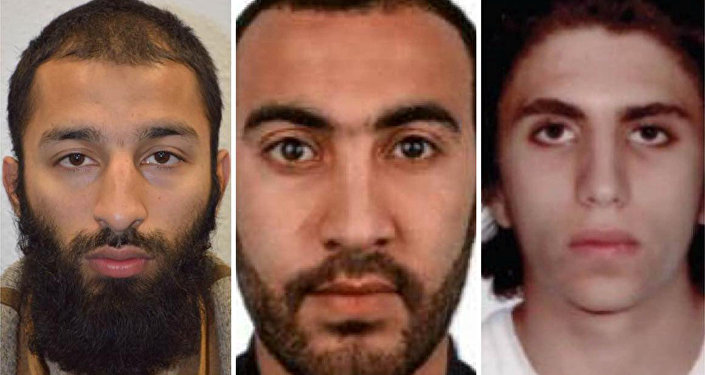 Italian national Youssef Zaghba, 22, identified by Italian and British law enforcement bodies as the third man shot dead by police officers during the attack on London Bridge and Borough Market is seen on right with the other two men named, Khuram Shazad Butt on left and Rachid Redouane, in an undated image handed out by the Metropolitan Police, June 6, 2017,
