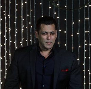 Bollywood actor Salman Khan poses for photographs at Priyanka Chopra and musician Nick Jonas wedding reception in Mumbai, India, Thursday, Dec 20, 2018