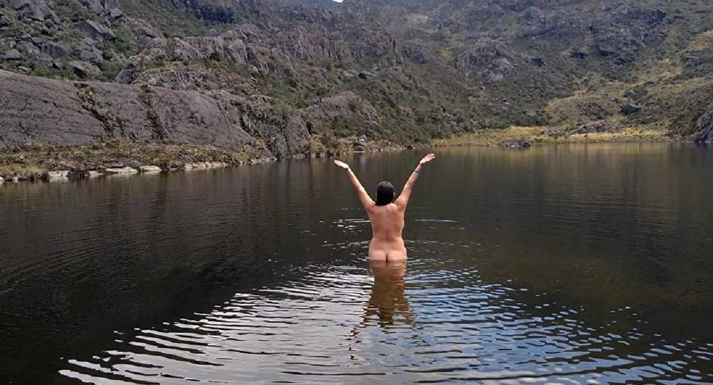 Nudist Travel Blogger BLASTED for 'Desecrating Sacred Lagoon' Over Racy Pics