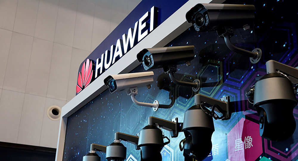 Huawei surveillance cameras are seen displayed at the security exhibition in Shanghai, China, May 24, 2019
