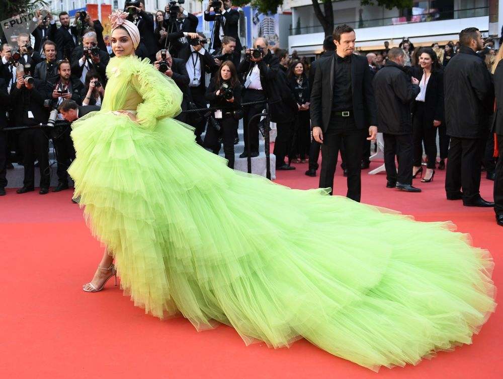 Actress and Model Deepika Padukone during the Cannes Film Festival in France