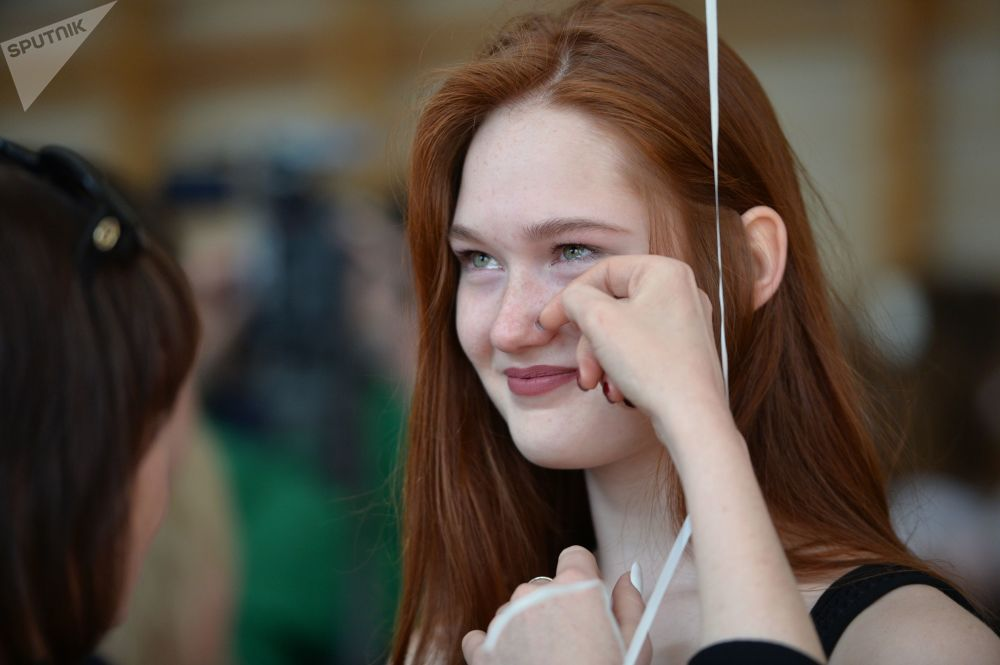 Schoolgirl After 'Last Bell' Celebration in Yekaterinburg
